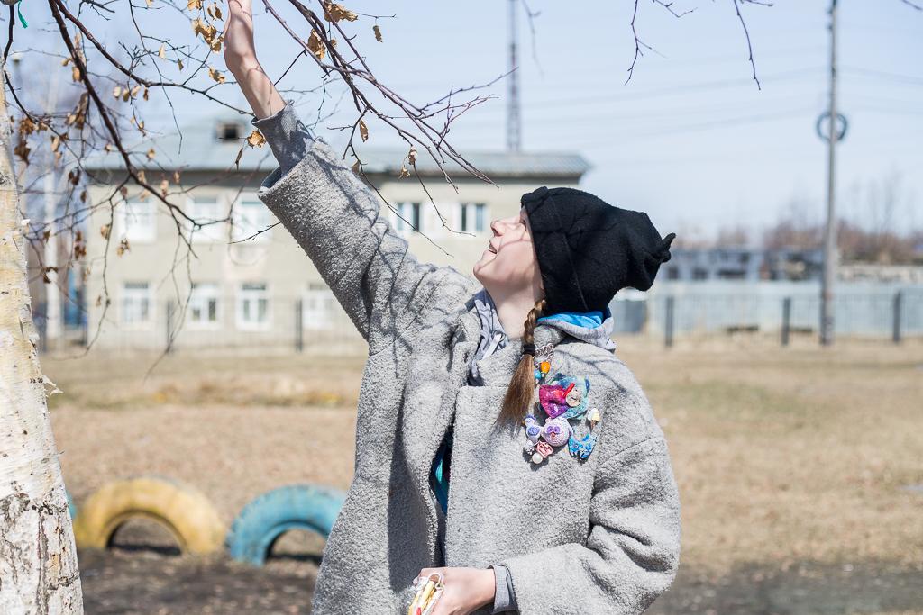 Арт-дерево украсило территорию школы №1 города Долинска.