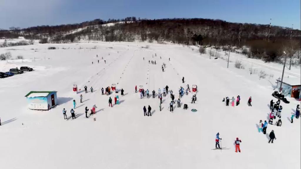 «Здоровый остров» на лыжне!